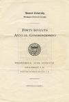 1916 - Howard University Commencement Program