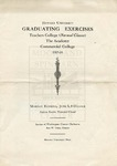 1916 - Howard University Normal Training Courses: Teachers College, Academy and Commercial College Commencement Programs
