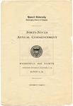 1918 - Howard University Commencement Program