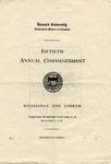 1919 - Howard University Commencement Program