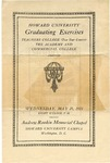1919 - Howard University Normal Training Courses: Teachers College, Academy and Commercial College Commencement Programs