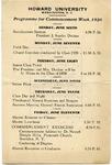1920 - Howard University Commencement Program