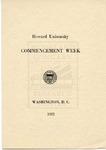 1921 - Howard University Commencement Program