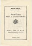 1922 - Howard University Commencement Program