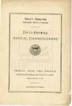 1923 - Howard University Commencement Program