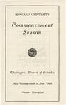 1925 - Howard University Commencement Program