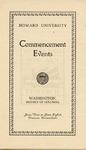 1928 - Howard University Commencement Program