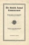 1929 - Howard University Commencement Program