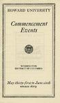 1930 - Howard University Commencement Program
