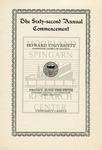 1931 - Howard University Commencement Program