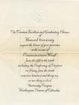 1932 - Howard University Commencement Program