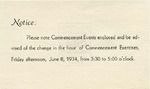 1933 - Howard University Commencement Program