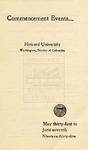 1935 - Howard University Commencement Program