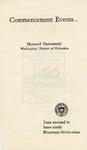 1939 - Howard University Commencement Program