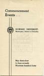 1940 - Howard University Commencement Program