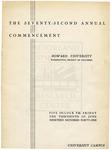1941 - Howard University Commencement Program