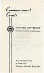 1942 - Howard University Commencement Program