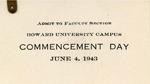 1943 - Howard University Commencement Program