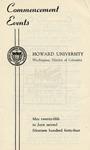 1944 - Howard University Commencement Program