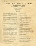 1945 - Howard University Commencement Program