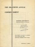 1948 - Howard University Commencement Program