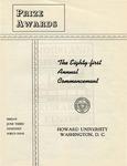 1949 - Howard University Commencement Program