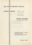 1950 - Howard University Commencement Program