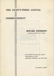 1951 - Howard University Commencement Program