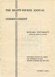 1952 - Howard University Commencement Program
