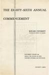 1954 - Howard University Commencement Program