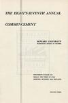 1955 - Howard University Commencement Program