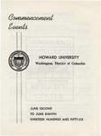 1956 - Howard University Commencement Program