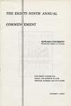 1957 - Howard University Commencement Program