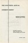 1958 - Howard University Commencement Program