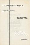 1959 - Howard University Commencement Program
