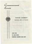 1960 - Howard University Commencement Program