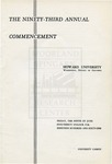 1961 - Howard University Commencement Program