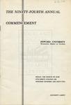1962 - Howard University Commencement Program