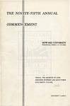 1963 - Howard University Commencement Program
