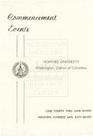 1967 - Howard University Commencement Program