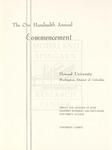 1968 - Howard University Commencement Program