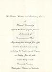 1970 - Howard University Commencement Program