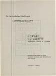1971 - Howard University Commencement Program