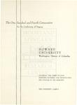 1972 - Howard University Commencement Program