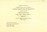 1982 - Howard University Commencement Program
