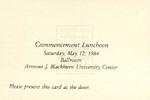 1984 - Howard University Commencement Program