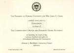 1986 - Howard University Commencement Program