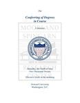 2020 - Howard University Commencement Program by Howard University