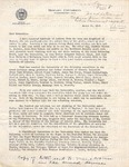 Copy of Letter Sent to H.U. Men and Women in Armed Forces