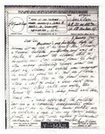 Bage, James W. (Letter 2) (Photostat) by MSRC Staff